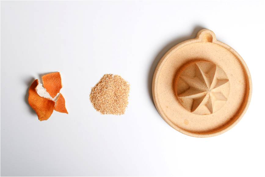 Recycled waste from the juice industry, Apeel designed by Alkesh Parmar, UK