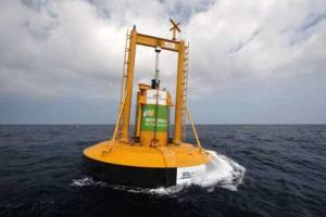 Energy-generating buoy in the high seas