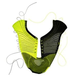 Nike Flyknit Shoe - picture of flat nike knitting. Photo: NIKE