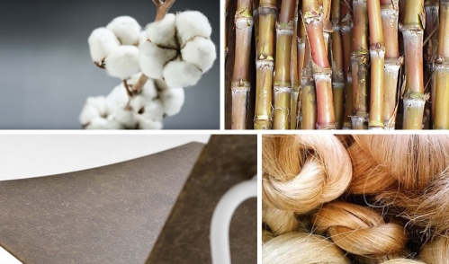 Natural Fibers: Cotton, sugar cane, Pastoe, Low Chair lc03 and abacá