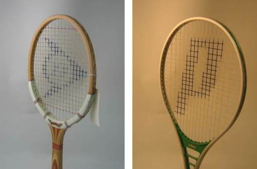 Figure 2. 1981 Dunlop MaxPly and 1977 Prince Oversize. Images courtesy of Sheffield Hallam University.
