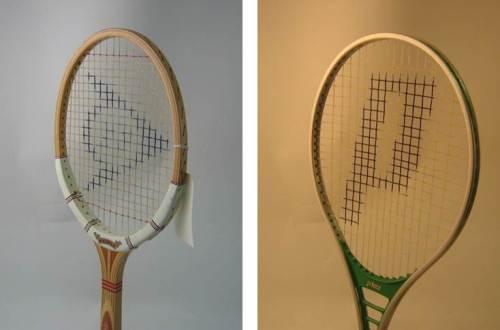 Figure 2. 1981 Dunlop MaxPly and 1977 Prince Oversize. Images courtesy of Sheffield Hallam University.