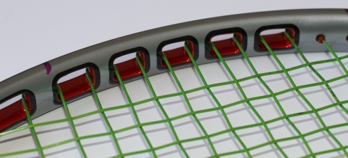 Figure 3. O-Port geometry in a Prince tennis racket. Image courtesy of Prince Sports.