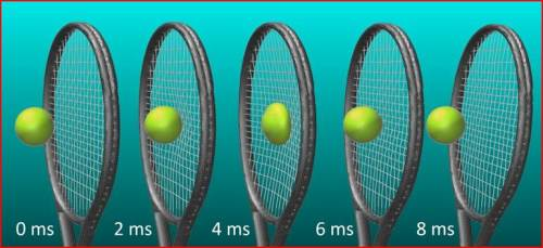 Figure 5. Finite element model of a tennis ball impacting a racket. Images courtesy of Sheffield Hallam University.