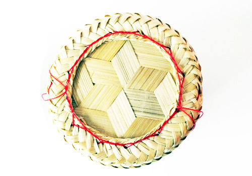 Kratib basket made of cleverly woven bamboo strips